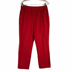 Links Red Straight Leg Casual Pants